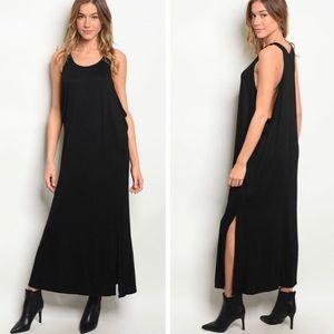 NWOT Love In Draped Side Muscle Maxi Dress